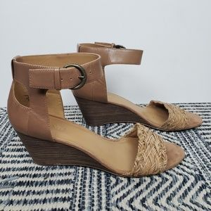 Nine West Wedges with woven toe straps